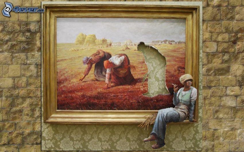 obraz, kobiety, odpoczynek