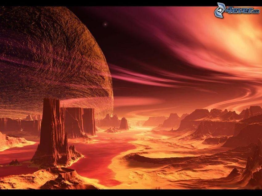 planeta sci-fi, zorza polarna