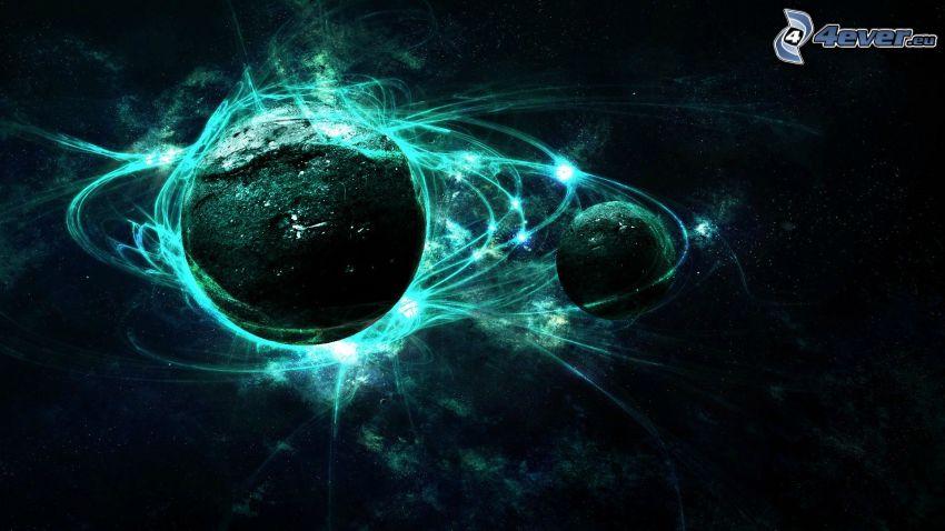 planety, linie