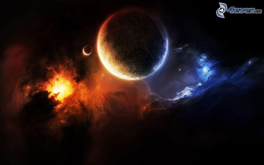 planety, mgławice