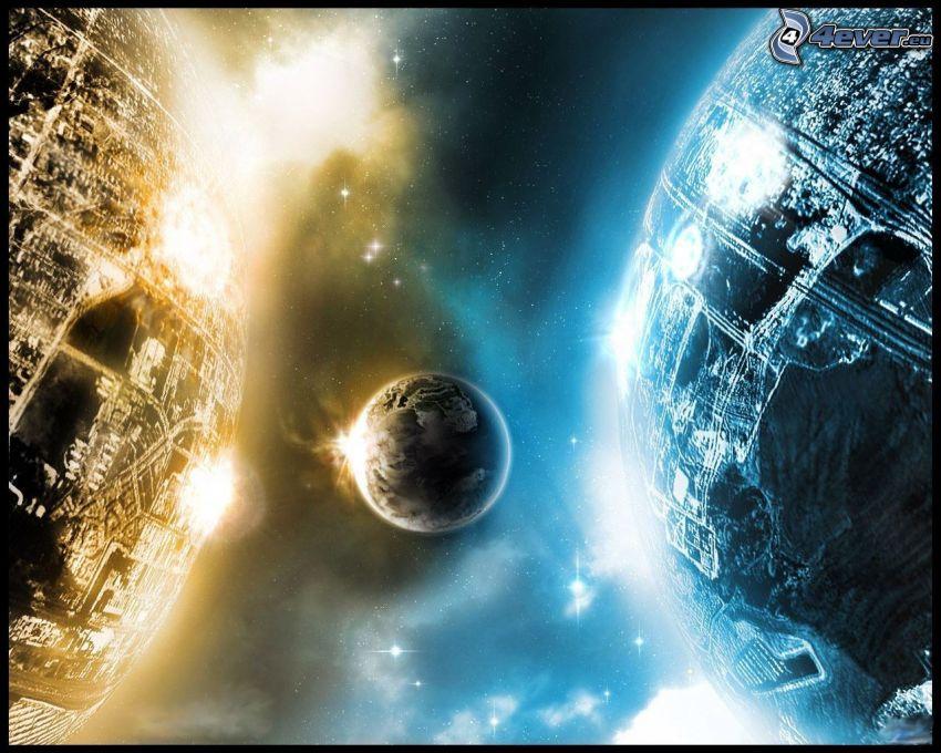 planety, wszechświat, sci-fi