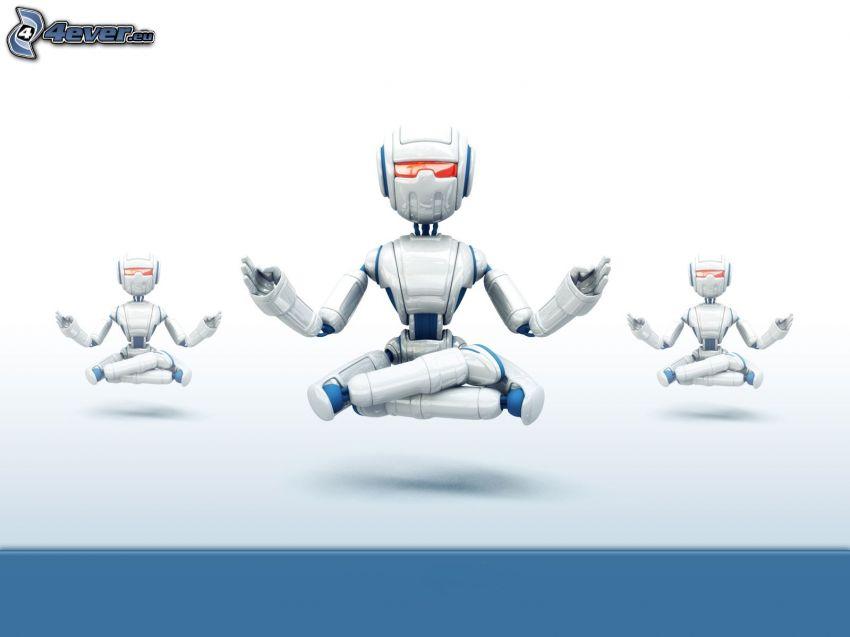 roboty, medytacja
