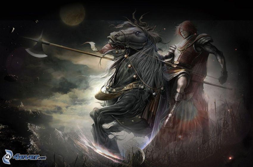 rycerz, koń, wojownik