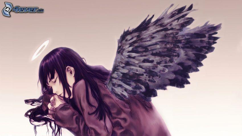rysowany anioł