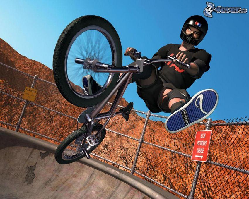 skok na rowerze, BMX, bike, akrobacje