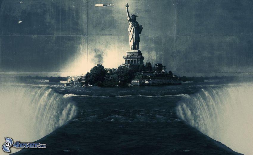 Statua Wolności, wodospady