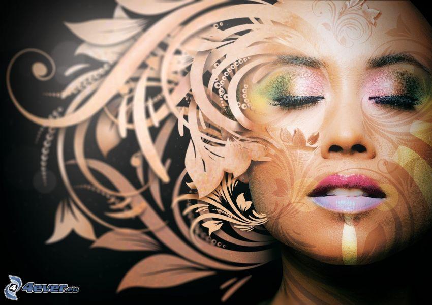 twarz, abstrakcyjne