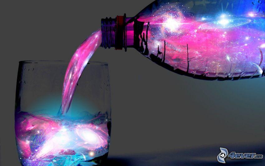 woda, wszechświat, szklanka