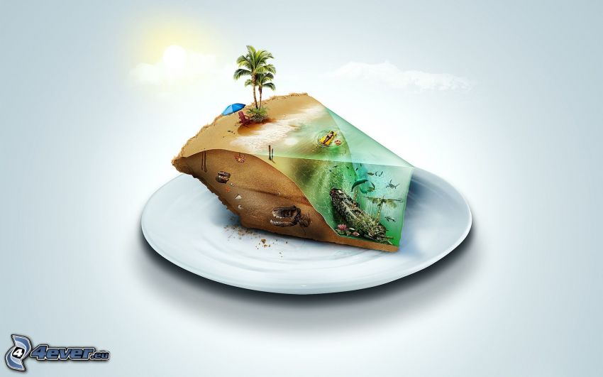 wyspa, ciasto