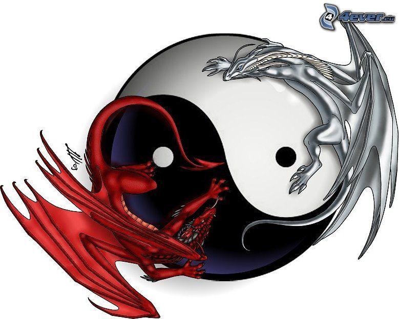 yin yang, smoki, równowaga