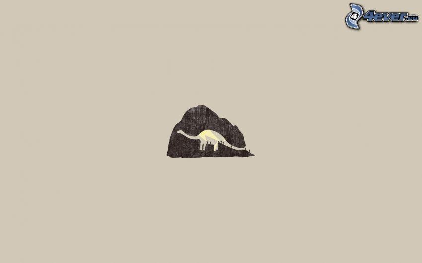 dinozaur, góra