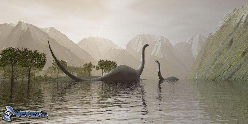 dinozaur, jeziorko