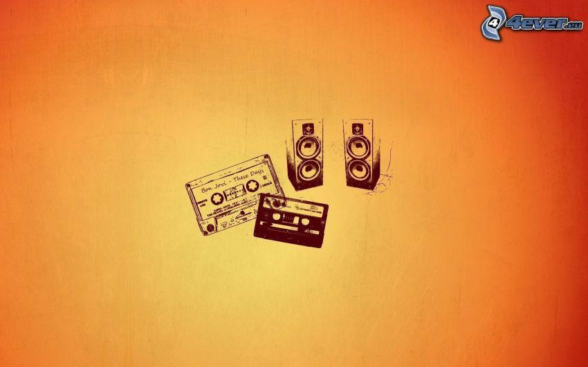 głośniki, kasety