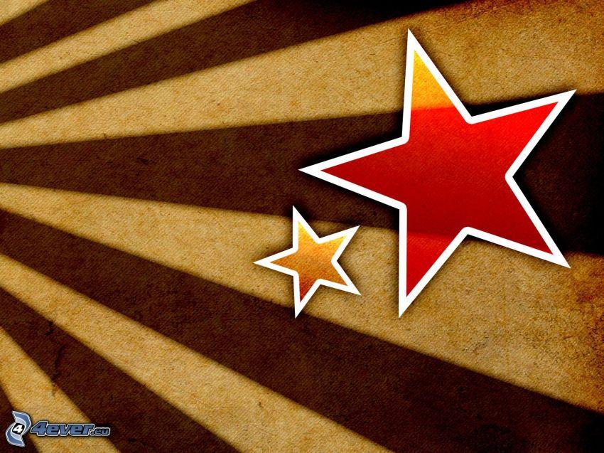 gwiazdy, paski