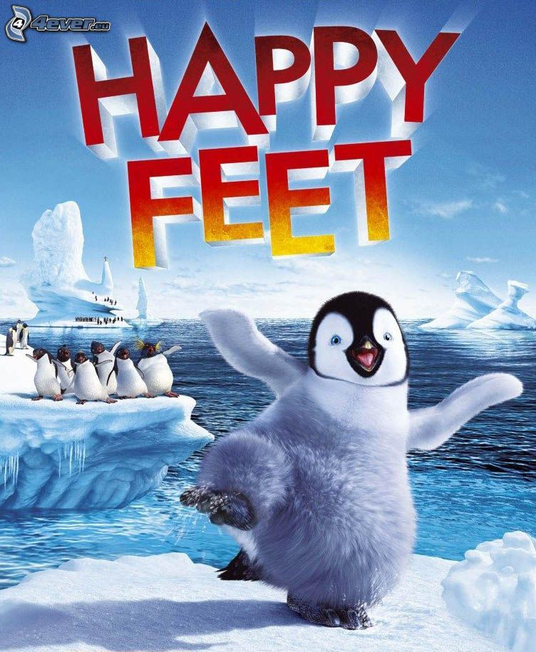 Happy Feet, pingwiniątko, lodowce