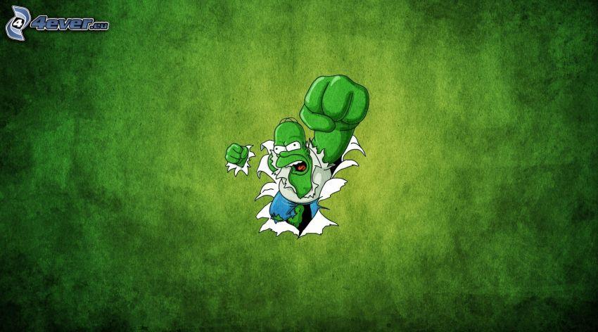 Homer Simpson, Hulk, pięść