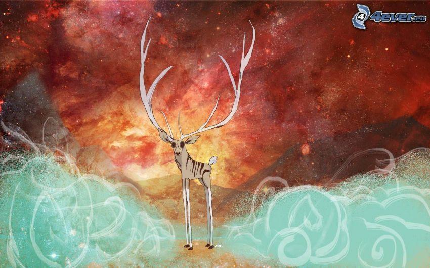jeleń, wszechświat