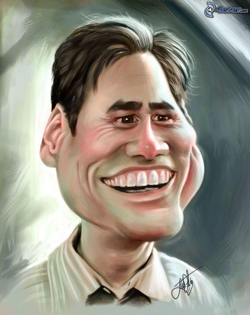 Jim Carrey, karykatura