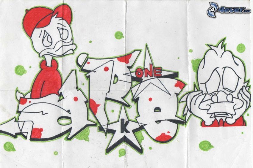 Kacze opowieści, graffiti