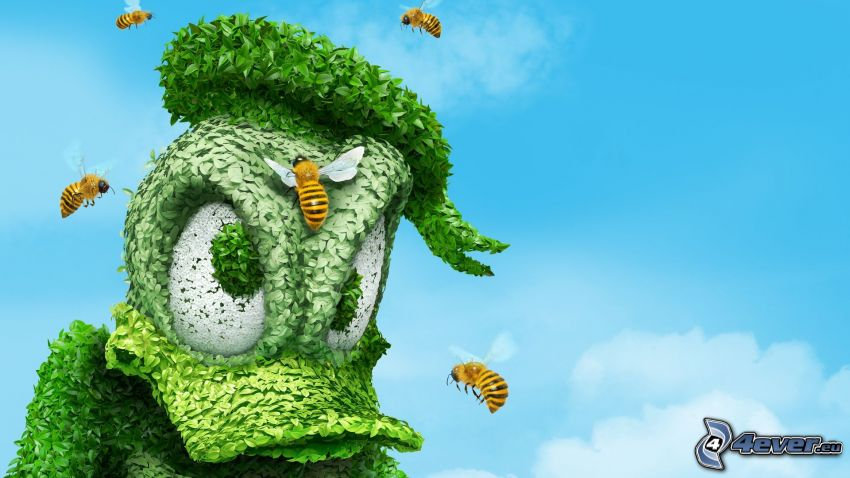 Kaczor Donald, pszczoły