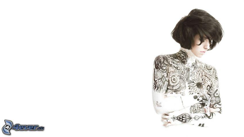 kobieta, z tatuażem