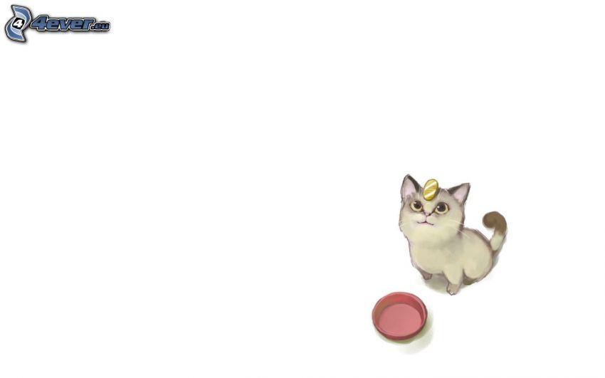 kot rysunkowy, kotek