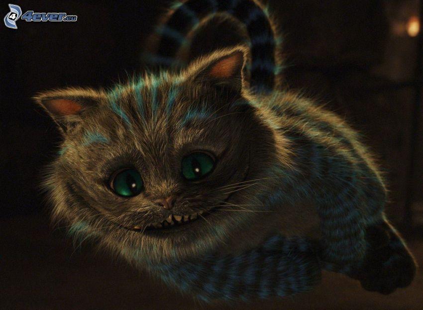 kot rysunkowy, uśmiech