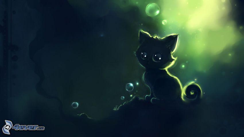 kotek, kot rysunkowy