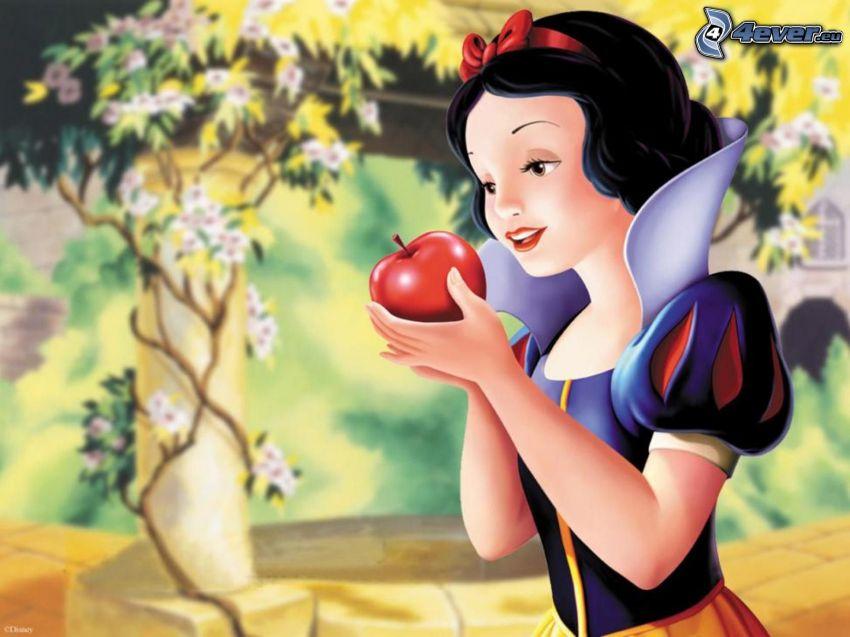 Królewna Śnieżka, bajka, jabłko