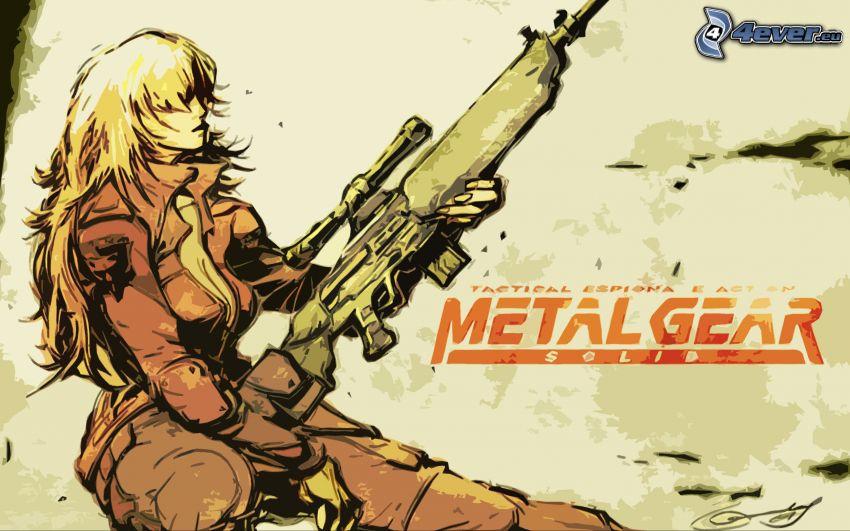 Metal Gear Solid, kobieta z pistoletem