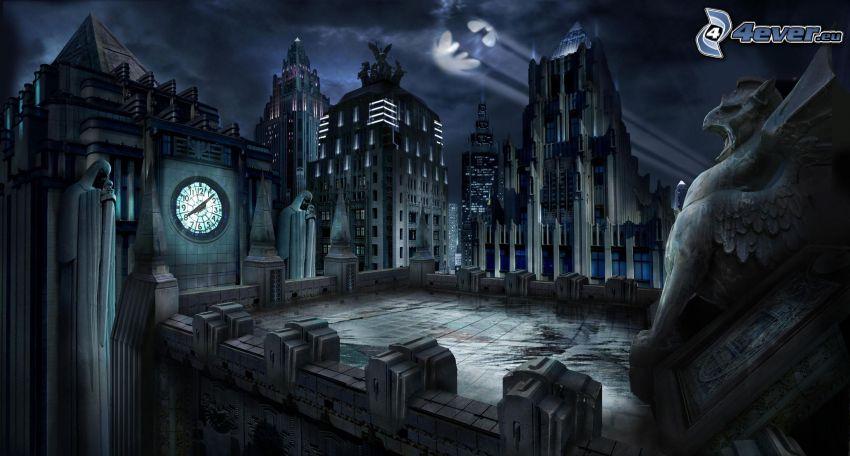 miasto nocą, Batman