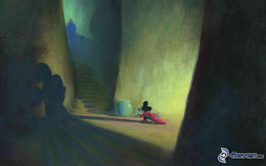 Mickey Mouse, schody