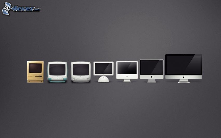 monitory, ewolucja, Apple