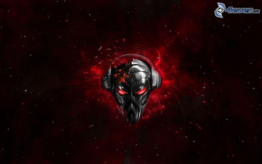 czaszka, Techno, muzyka, music