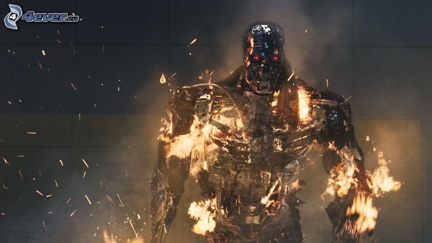 Terminator, wojownik, ogień
