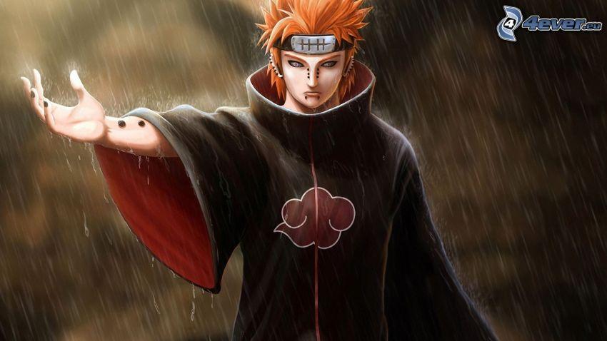 Naruto, deszcz
