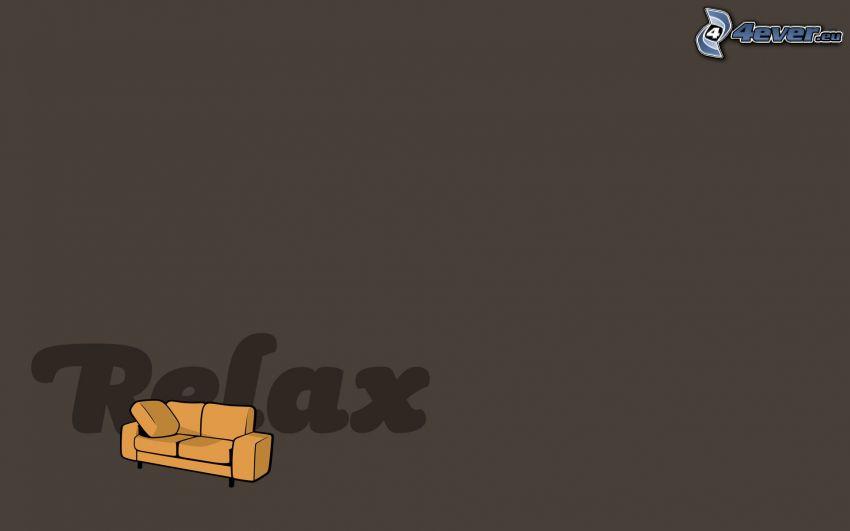 odpoczynek, sofa