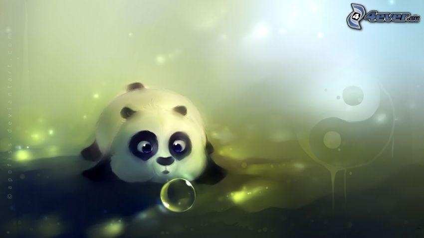 panda, yin yang