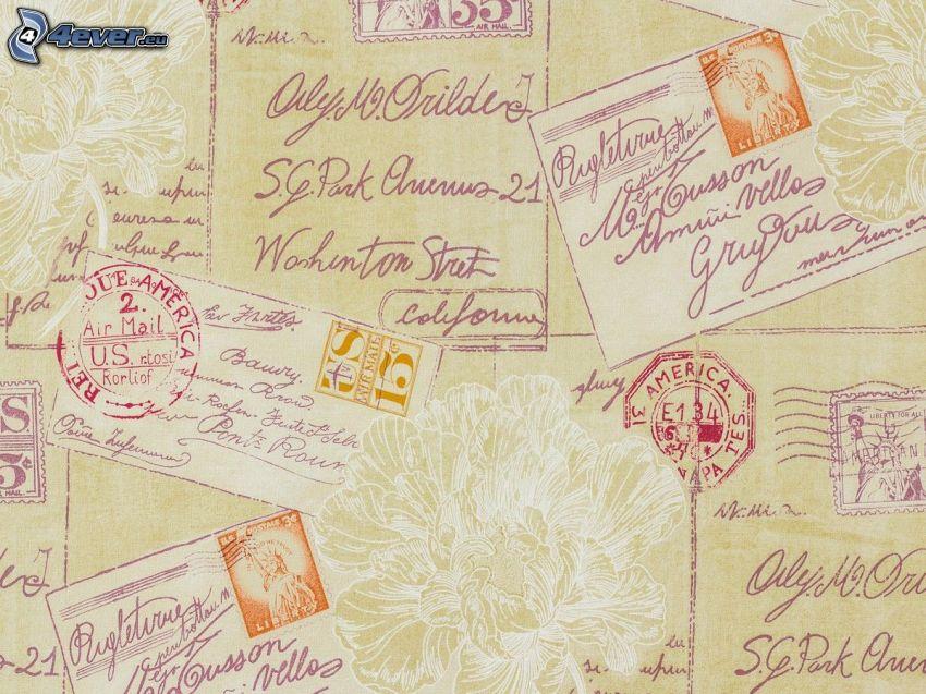 pocztówka, listy