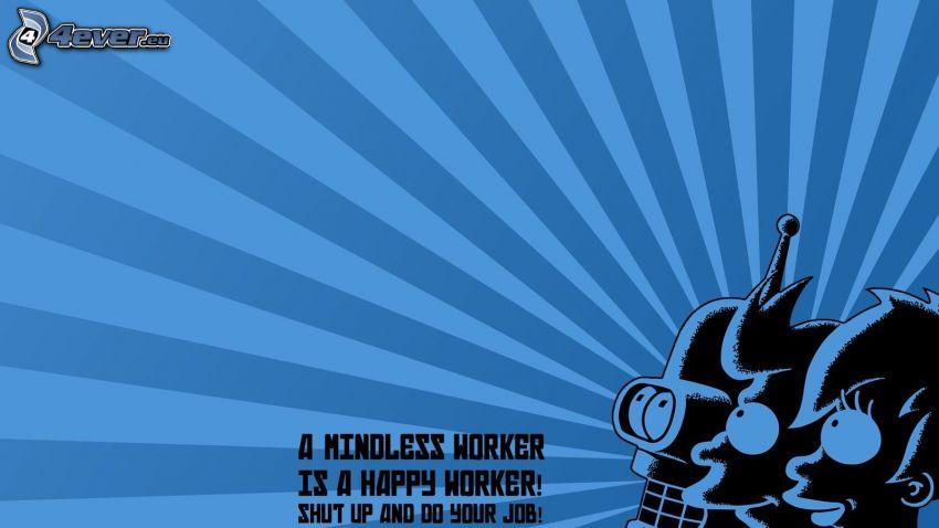 postacie z kreskówek, text, Futurama