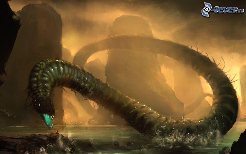 potwór, wąż morski