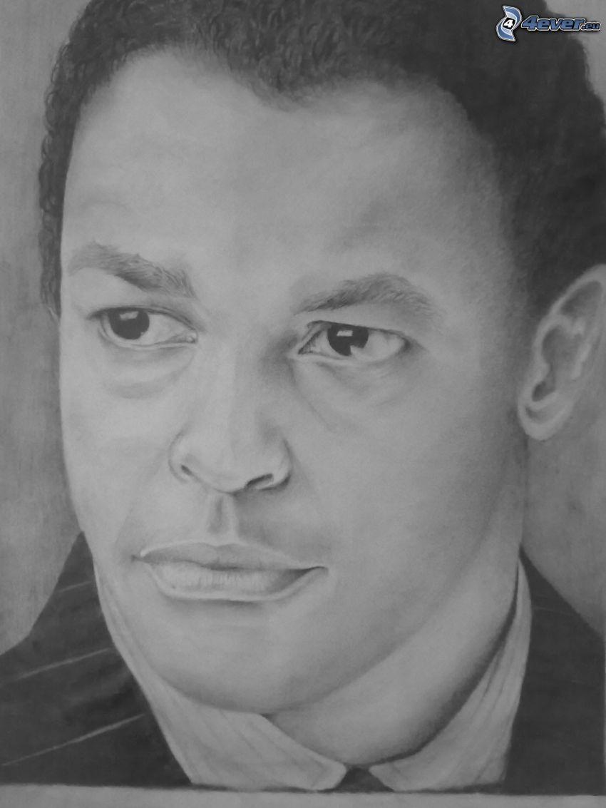Denzel Washington, rysowane, sztuka