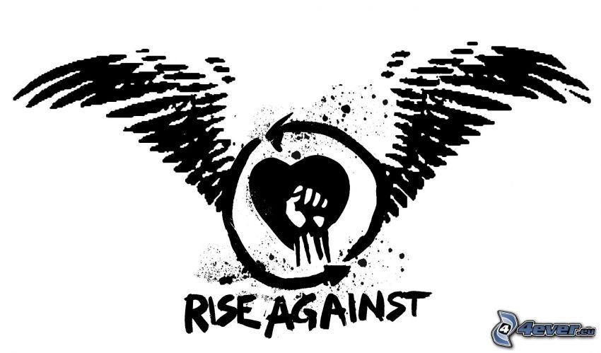 Rise Against, logo