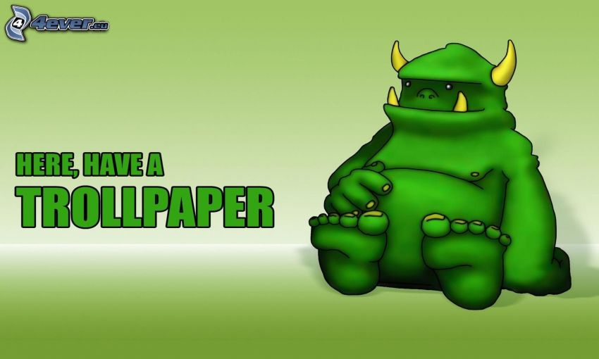 rysunkowa postać, trollpaper