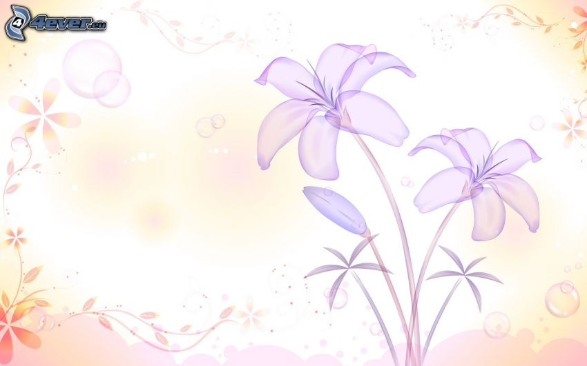 rysunkowe, kwiaty