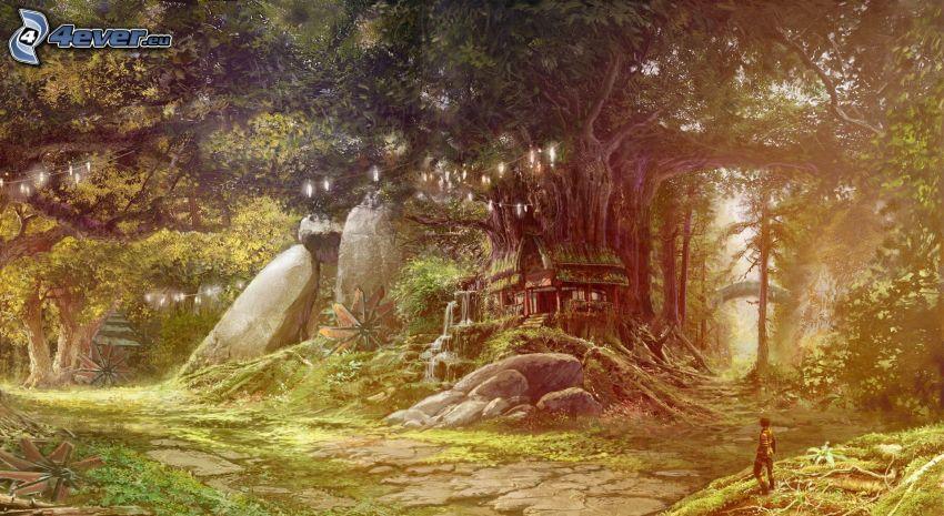 rysunkowy krajobraz