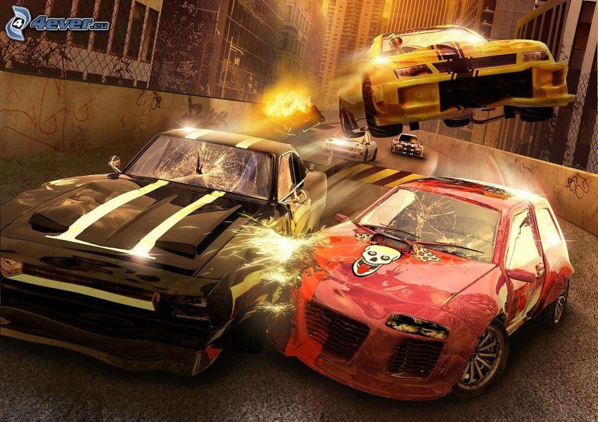 Samochody, wypadek