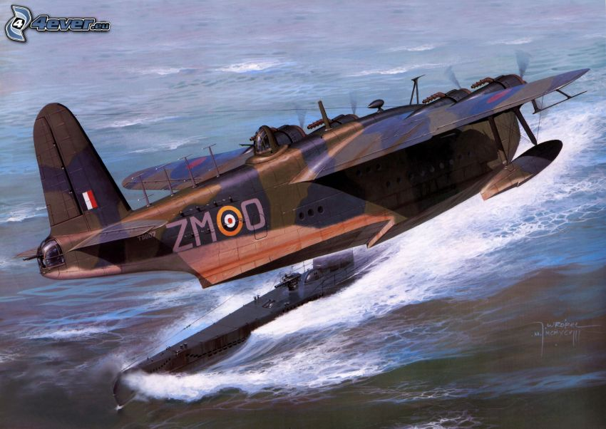 samolot, woda