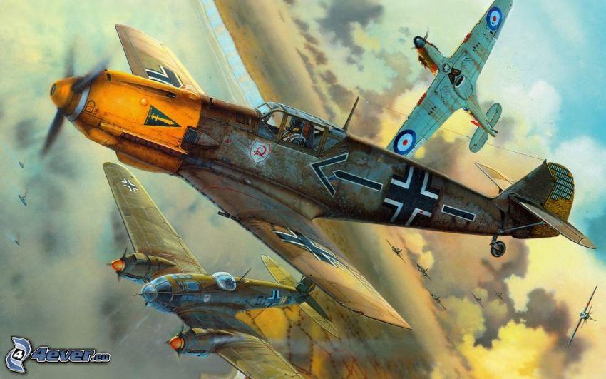samoloty, II wojna światowa