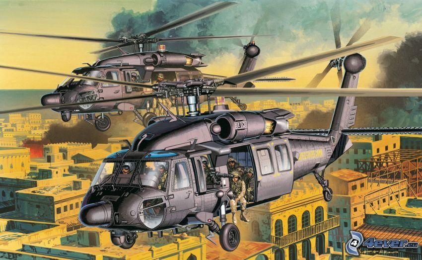 śmigłowce wojskowe